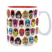 dvd obaly Hrnek Marvel - Marvel Heads 460 ml